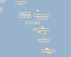 map french antilles